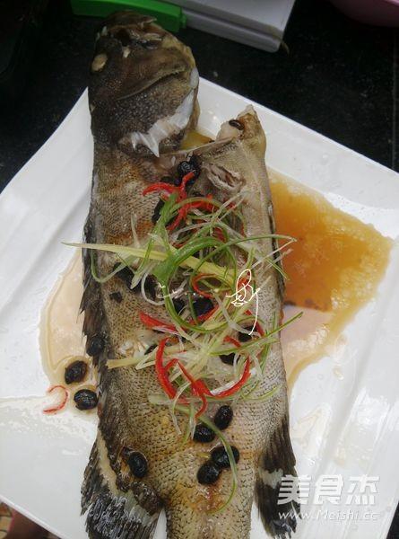 豆豉蒸石斑鱼的简单做法
