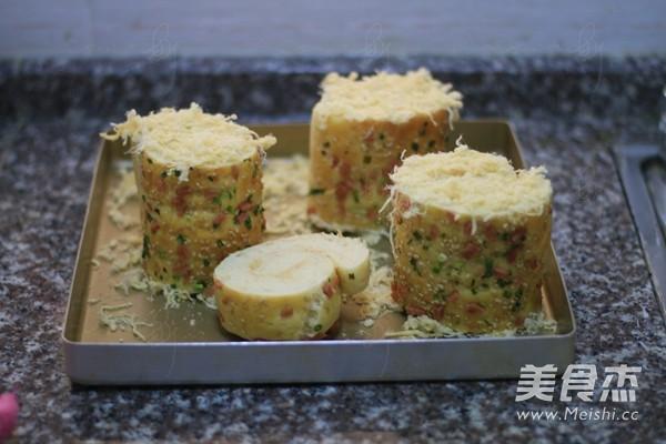 香葱肉松面包卷的制作方法