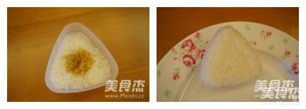 熊猫造型饭团便当的做法图解