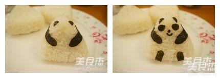 熊猫造型饭团便当的简单做法