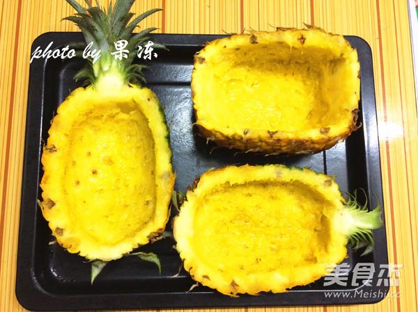 菠萝焗海鲜饭的做法图解