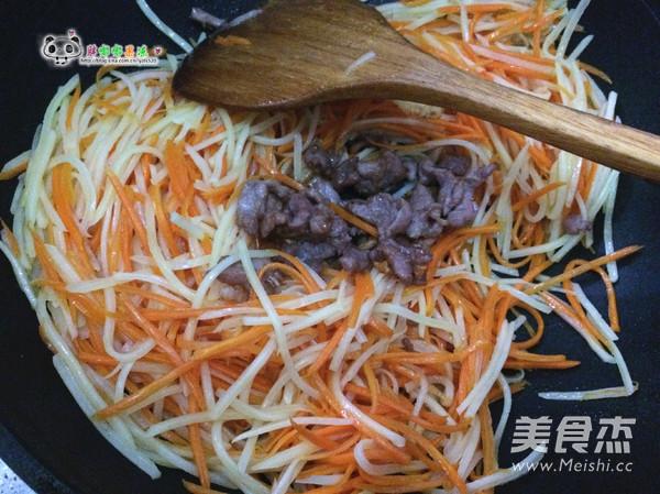 土豆胡萝卜丝炒肉怎么煮