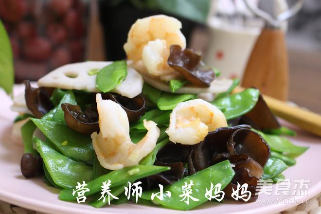 虾仁荷塘小炒  营养师小菜妈妈怎么煮