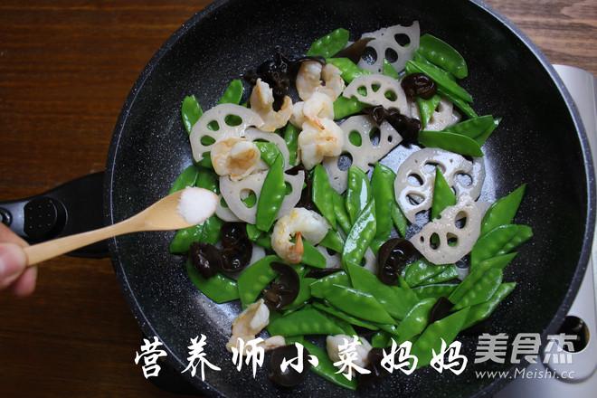 虾仁荷塘小炒  营养师小菜妈妈怎么炒