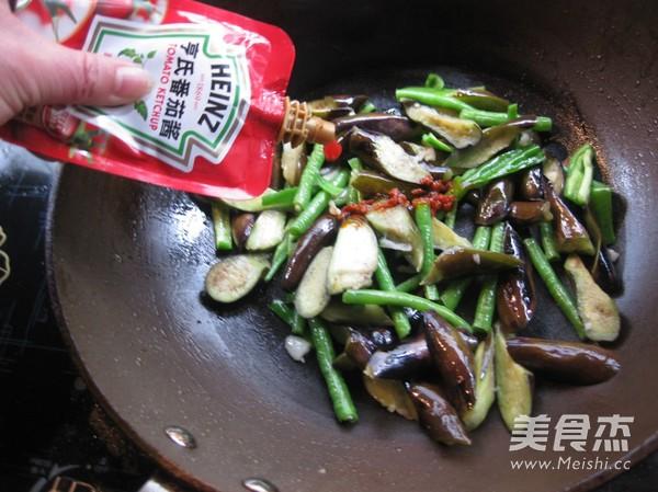 茄子炒豇豆怎么炒