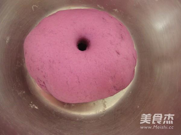 紫薯玫瑰花馒头的简单做法