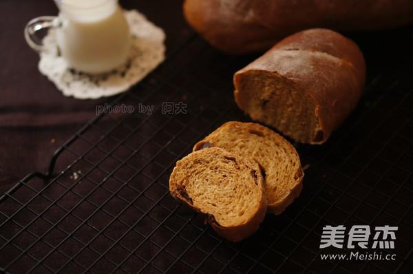 红糖桂圆全麦面包成品图