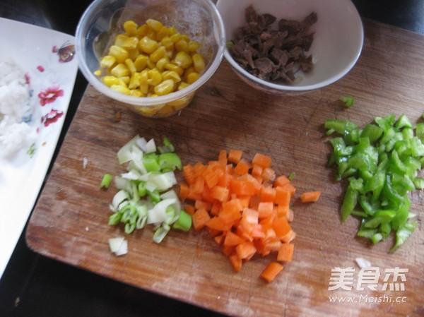 牛肉玉米炒饭的做法图解