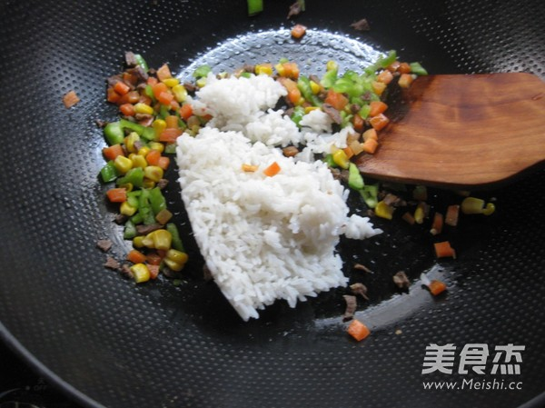 牛肉玉米炒饭怎么做