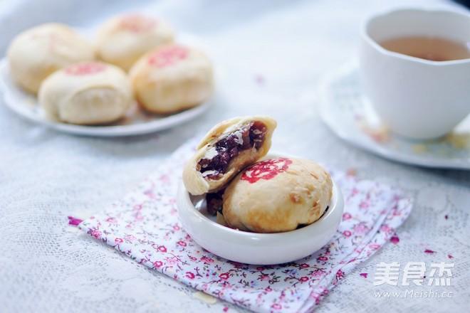 玫瑰花饼的制作