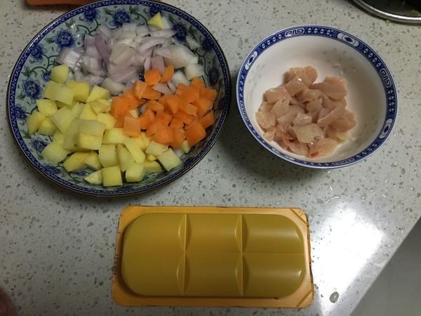 鸡肉咖喱饭的做法图解