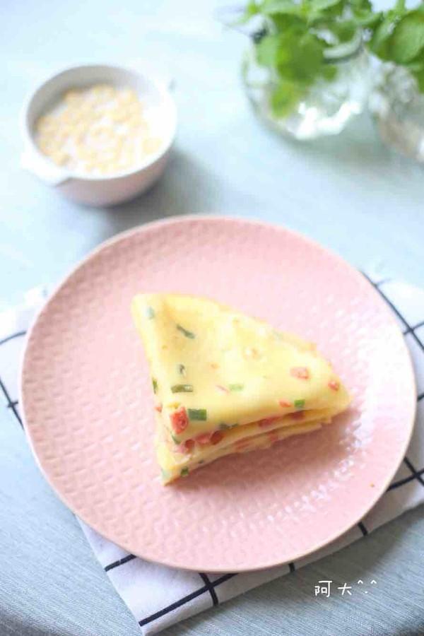 火腿肠鸡蛋软饼成品图