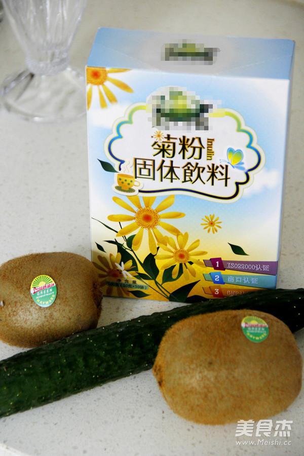 排毒瘦身黄瓜猕猴桃汁的做法大全