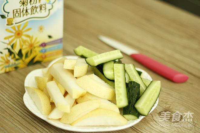 鲜榨黄瓜雪梨汁怎么吃