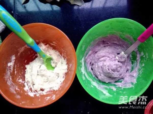 双色紫薯发糕的家常做法