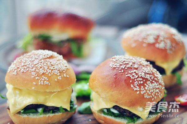 自制汉堡成品图