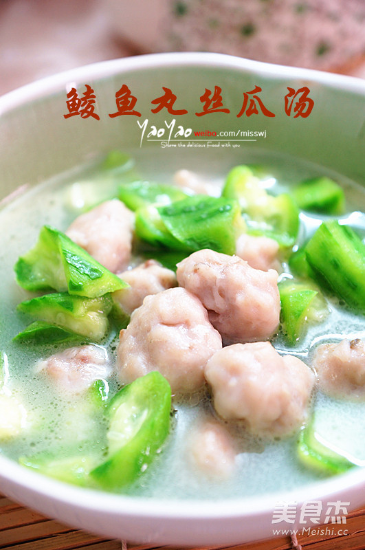 鲮鱼丸丝瓜汤成品图