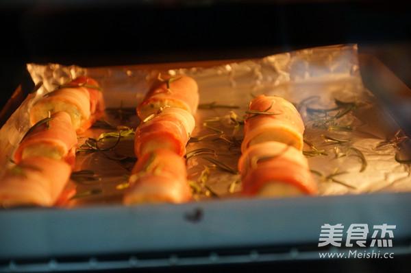 迷迭香土豆培根卷的步骤