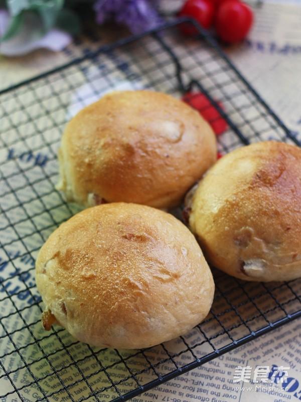蜜豆墨西哥咖啡面包成品图