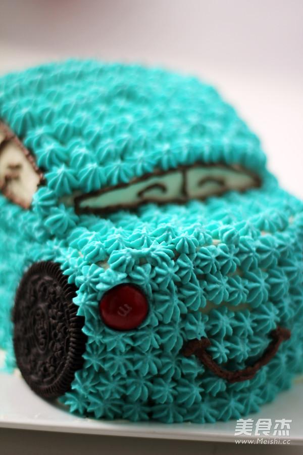 小汽车蛋糕成品图