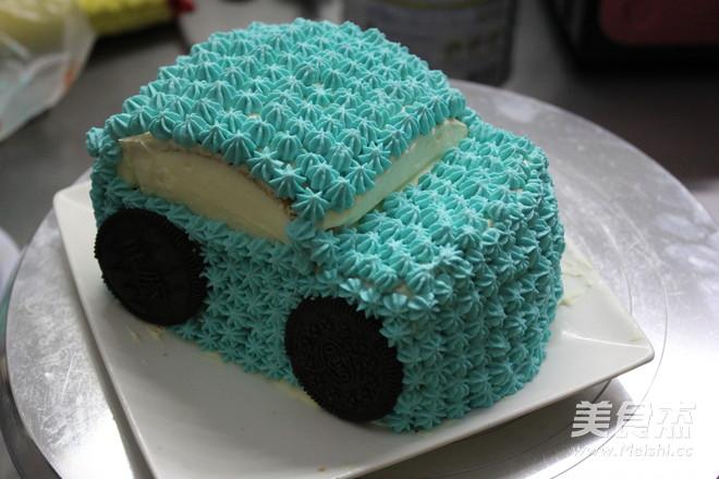 小汽车蛋糕的步骤