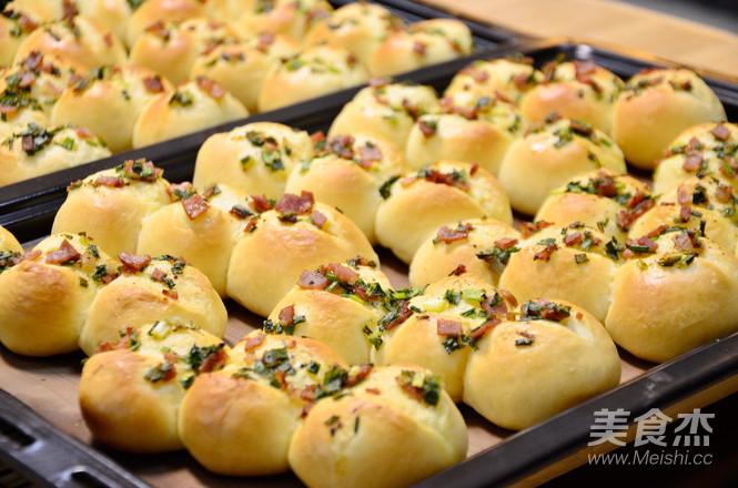 香葱培根面包的制作大全