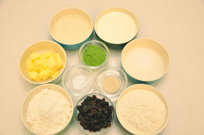抹茶奶酪软欧包的做法大全
