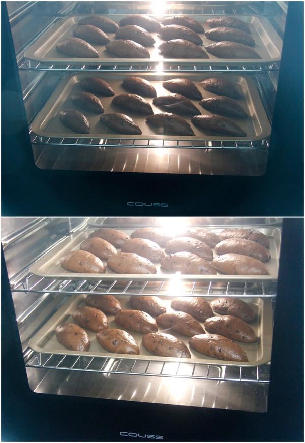 用卡士烤箱960M烤的巧克力甜面包怎样煸