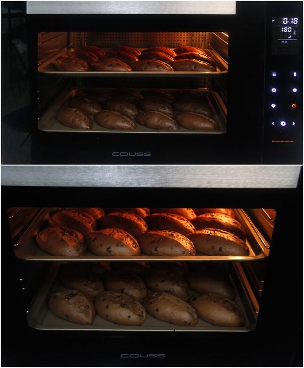 用卡士烤箱960M烤的巧克力甜面包怎样做