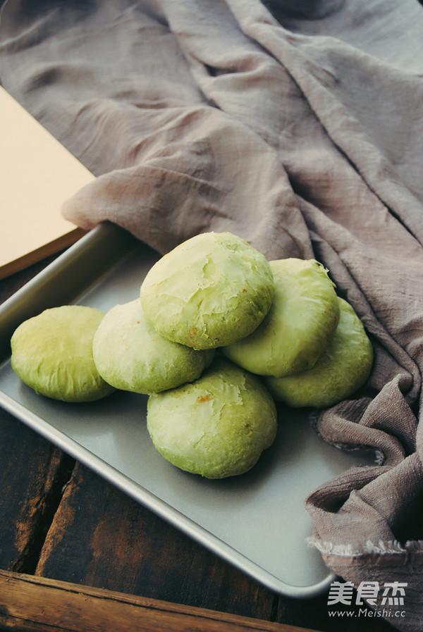 抹茶红豆酥饼成品图