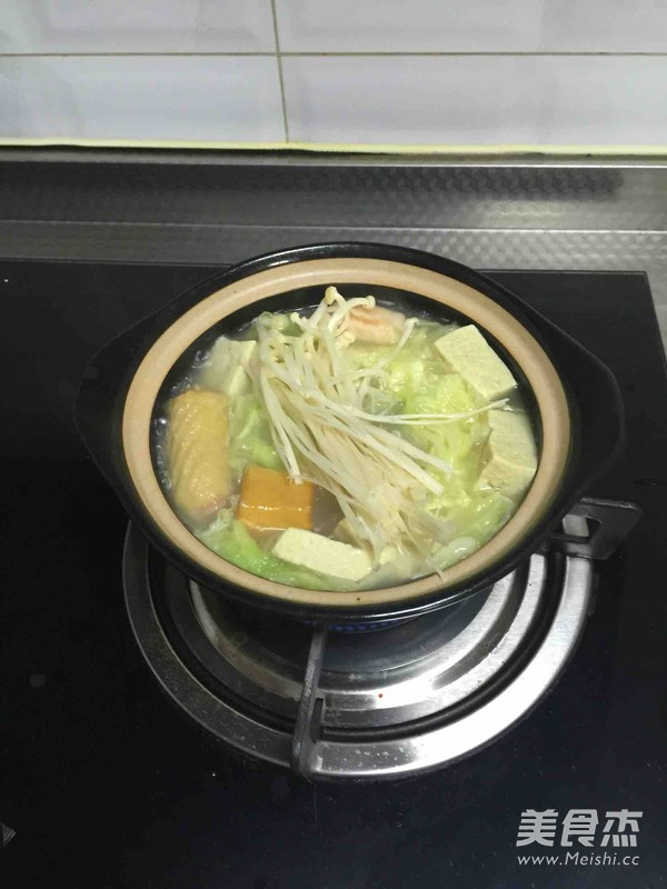 砂锅白菜冻豆腐怎么炒