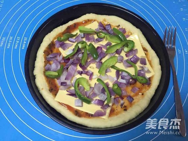 8寸蔬菜披萨怎么煸