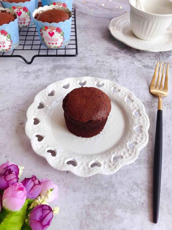 巧克力杯子蛋糕成品图