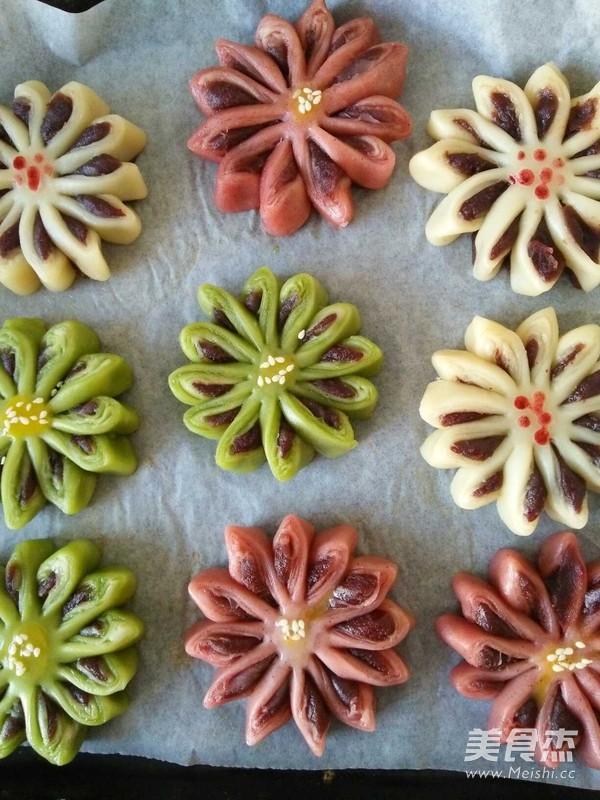 彩色菊花酥的做法大全