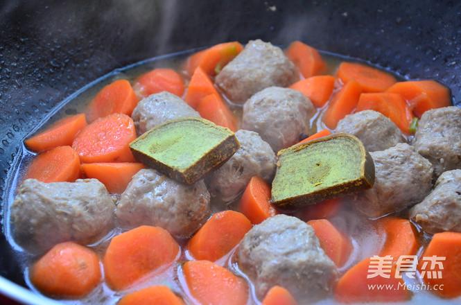 咖喱牛肉丸怎么吃