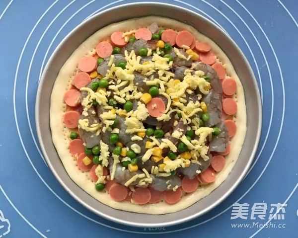 鲜虾培根披萨怎么炒