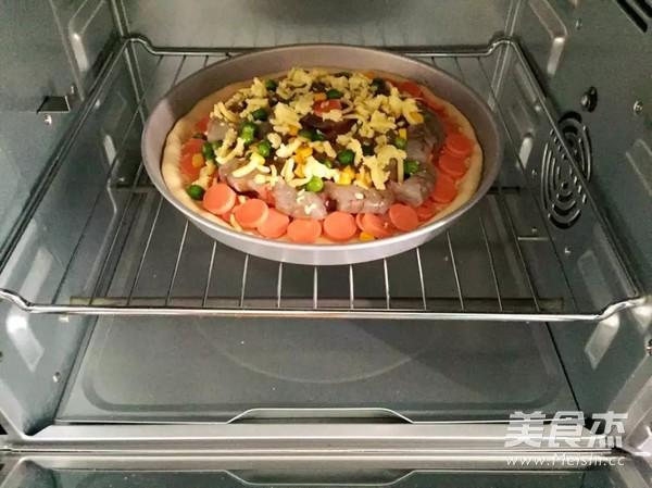 鲜虾培根披萨怎么煮
