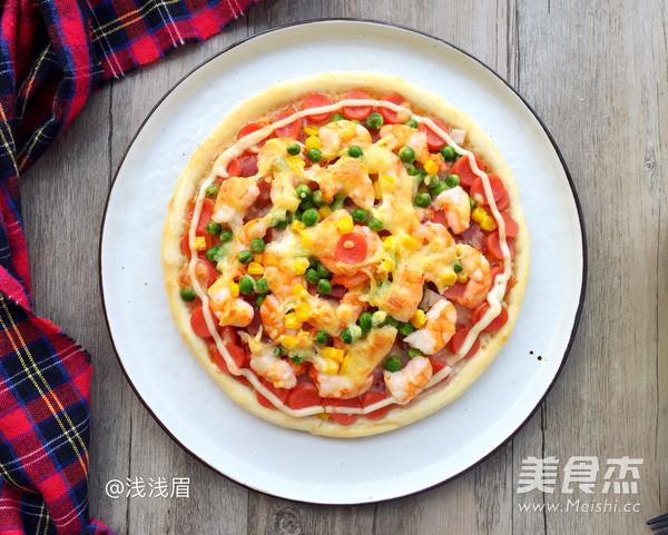 鲜虾培根披萨怎么炖