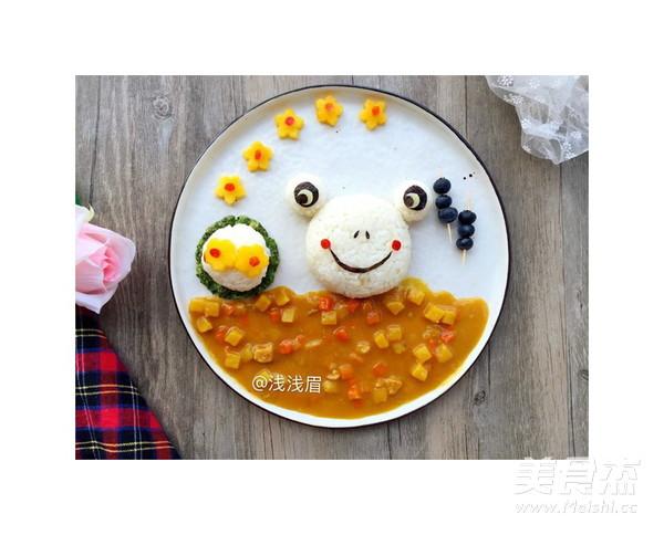 咖喱青蛙饭团怎么做