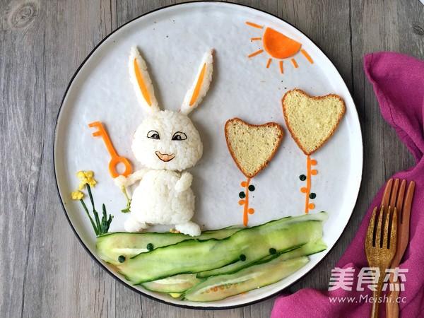萌萌的爱宠饭团,让孩子爱上素食怎么煸