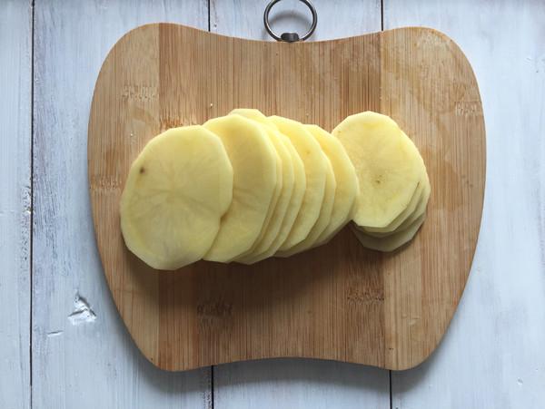 #美的电烤箱#香脆孜然味薯片的做法图解