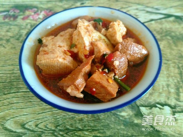 郫县酱炖豆腐肉怎么煸