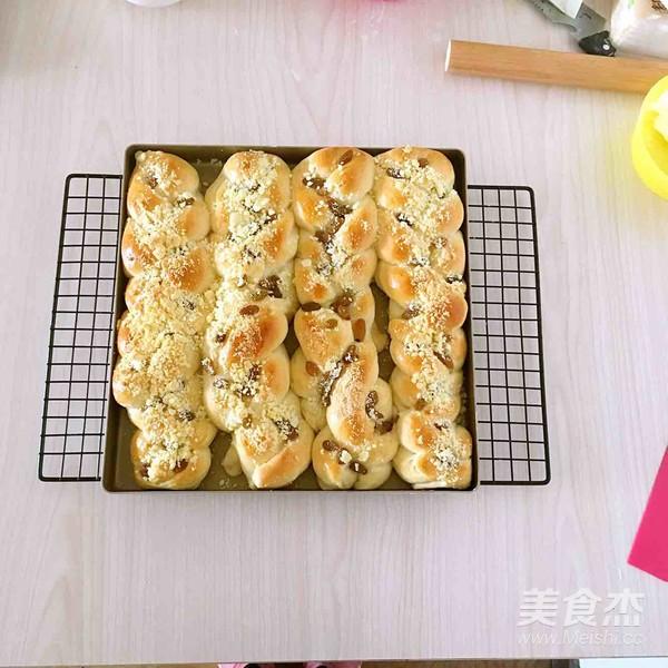 葡萄干奶酥辫子面包怎样做