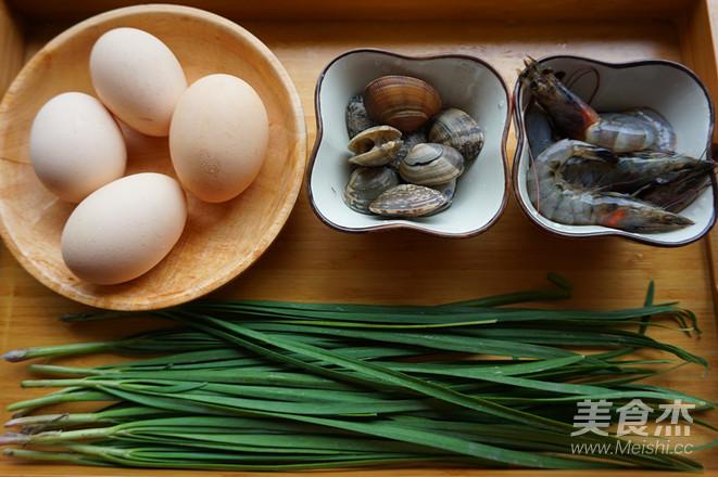 韭菜海鲜煎蛋的做法大全