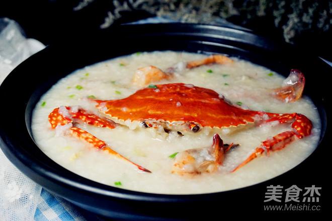 海蟹粥成品图