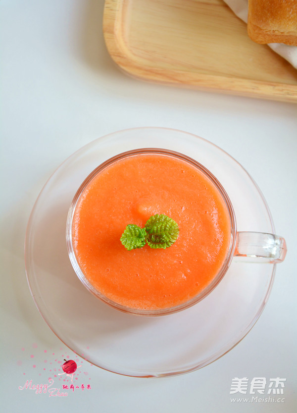 红柚胡萝卜汁成品图