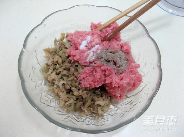 猪肉榨菜馅饼的简单做法