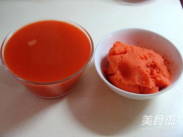 花式蒸饺之胡萝卜汁蒸饺的简单做法