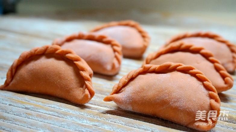 花式蒸饺之胡萝卜汁蒸饺的制作方法