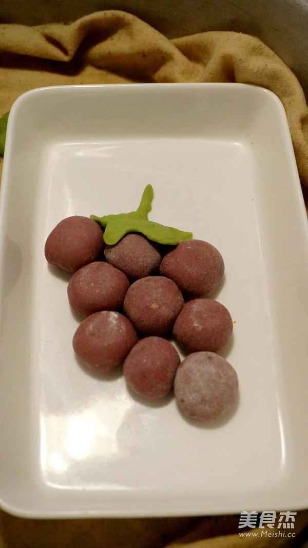 花式蒸饺之紫葡萄蒸饺的制作